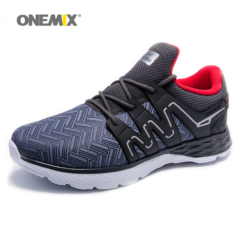 ONEMIX Free Ship Man Running Shoes For Men Run DMX Breathable Outdoor Walking Shoes Male Sport Sneakers Lightweight Sport Shoes summer style somix ultralight damping running shoes for men free run sneakers 2017 slip on breathable blade soles sport shoes