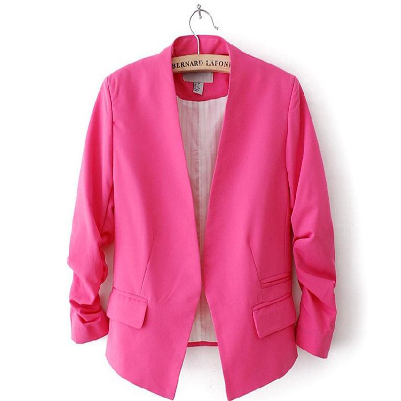 Office commuter professional womens suit jacket spring and summer womens small suit British College fashion casual single suit ...