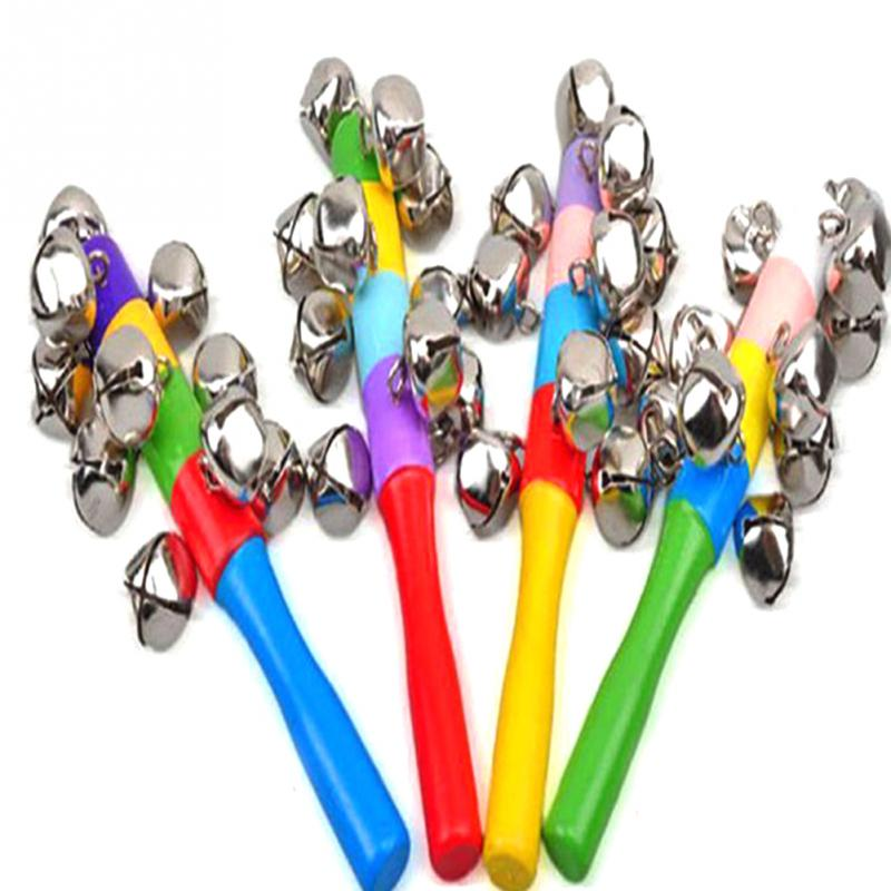 Colorful Rainbow Hand Held Bell Stick Wooden Percussion Musical Toy for KTV Party Kids Game Wholesale Retail ...