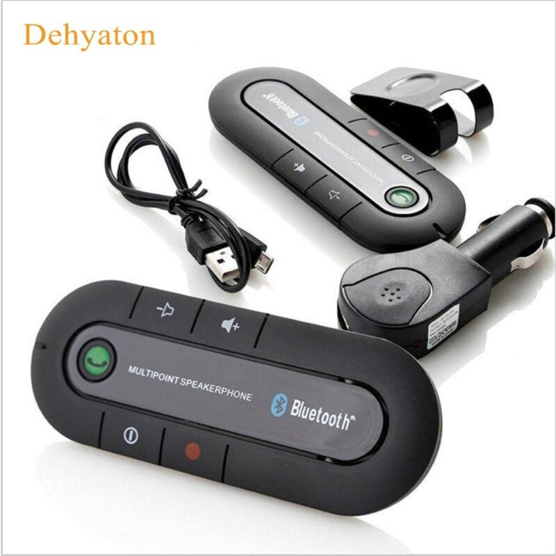 2018 Speakerphone Hands Free V4.1 EDR Sun Visor Bluetooth 4.1 Car Kit Handsfree Receiver Music Aux Speaker for Phone Smartphones
