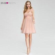 Bridesmaid-Dresses Wedding-Party Elegant Pink One-Shoulder Ever Pretty Short A-Line