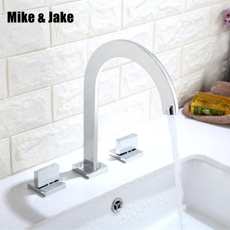 Bathroom bathroom 3 hole basin faucet mixer bathroom Tap double handle Basin Mixer Hot And Cold Water Wash Faucet MJ028 bathroom faucet into the wall cold and hot water taps embedded type mixer double handles table basin wash basin faucet torneira