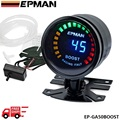 EPMAN racing 52mm Smoked LED PSI/BAR Turbo Boost Meter Gauge with Sensor EP-GA50BOOST-FS