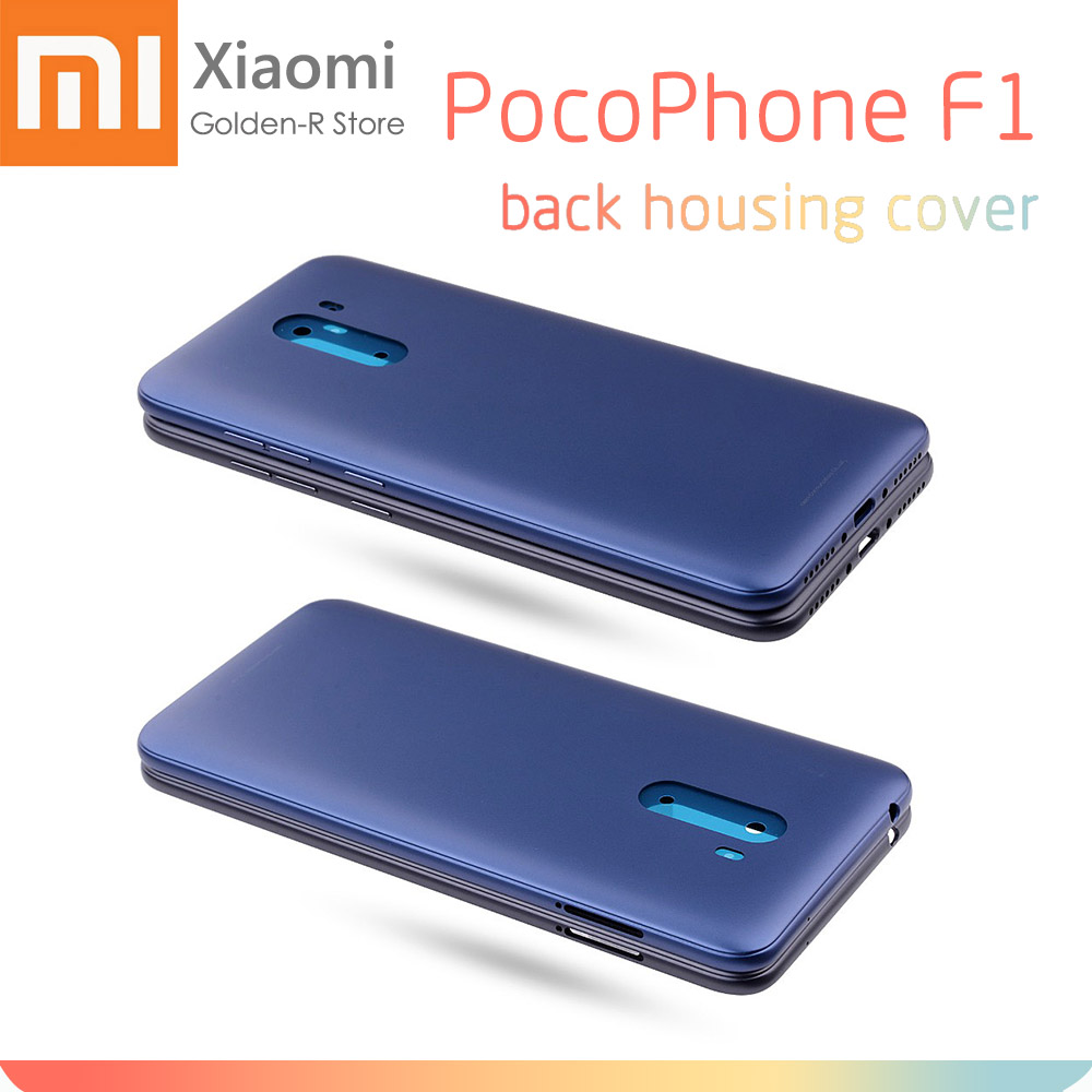 For Xiaomi PocoPhone F1 Battery Cover Back Housing Rear Door Case Xiaomi Pocophone F1 Battery Cover+Side Button Key+Camera Lens