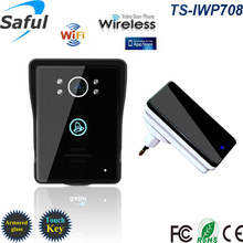 Caliente Wifi teléfono video de la puerta timbre Inalámbrico de Intercomunicación Soporte IOS Android Teléfono Inteligente o Tableta llamada Remota, desbloquear Envío gratis