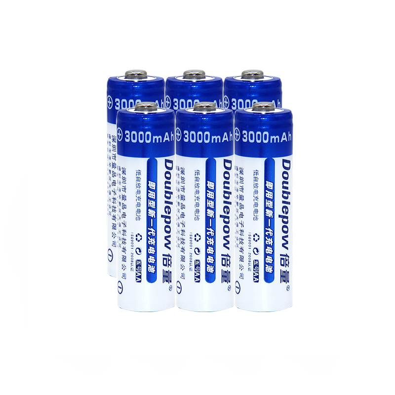 6pcsAA Batteries NI-MH 3000mAh 1.2V AA Rechargeable Batteries 2A Bateria Baterias or Remote Controller/Electric Shaver/Radio/Toy
