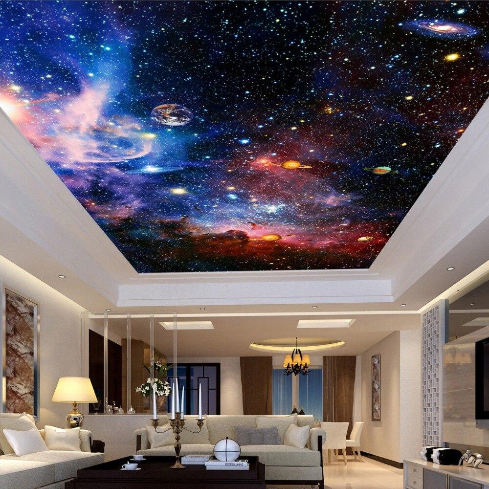 Custom Foto Tapete Universum Star Sky Wohnzimmer Decke Fresko Europäischen  Stil Zu Hause Dekoration Wand Kunst Decke Tapete 3D