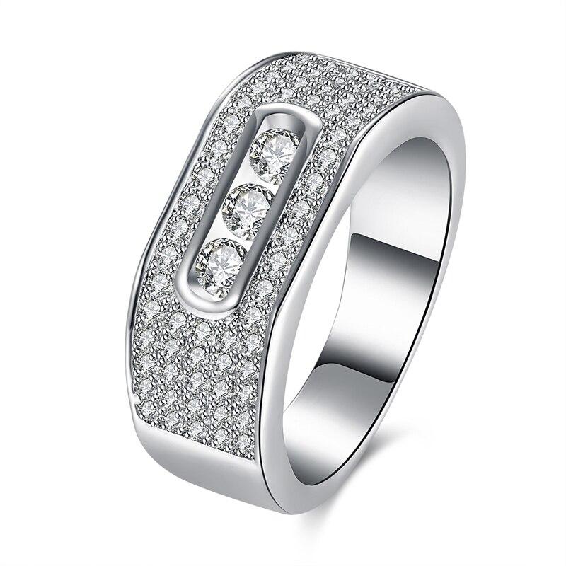 fworld custom wedding rings for women silver plate pave full of aaa cubic zircon luxury wedding - Custom Wedding Rings