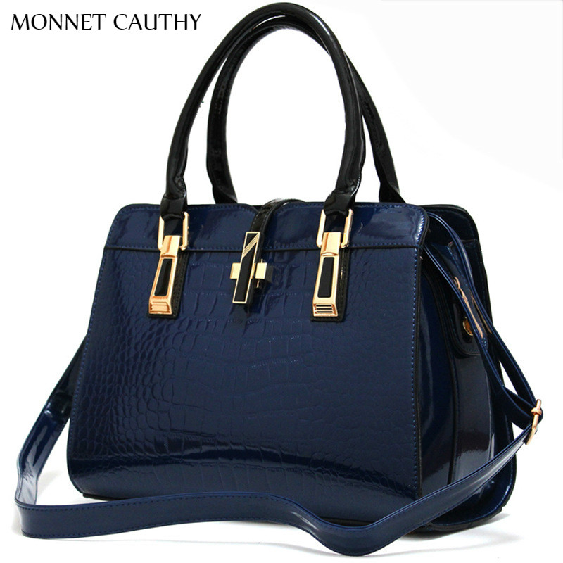 MONNET CAUTHY Bags for Ladies Solid Color Wine Red Rose Navy Blue Black and Whit