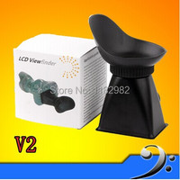 Wolasale 2pcs 2 8X3 3 2 LCD Viewfinder Magnifier Eyecup V2 For 550D T2i 5D MARK