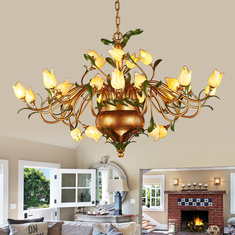 American Iron romantic wedding room cozy living room bedroom chandelier chandelier lamp and creative personality Restaurant korean princess wrought lamp iron bedroom led lamp american pastoral style living room children chandelier