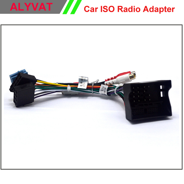 aliexpress com buy car stereo iso radio plug for volkswagen vw golf passat skoda seat lead loom wiring harness wire cable adapter power iso cable