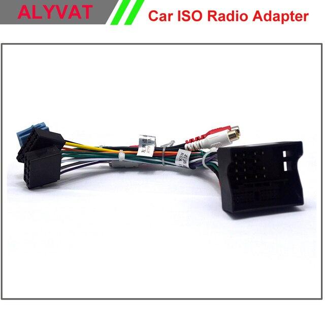 Enchufe de Radio ISO estéreo de coche para Volkswagen Passat VW Golf Skoda asiento de Lead cableado arnés Cable adaptador de alimentación cable ISO