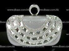 12106-silver Kristall knuckels Ring Hochzeit Brautpartei kupplung geldbörse handtasche FREIES VERSCHIFFEN