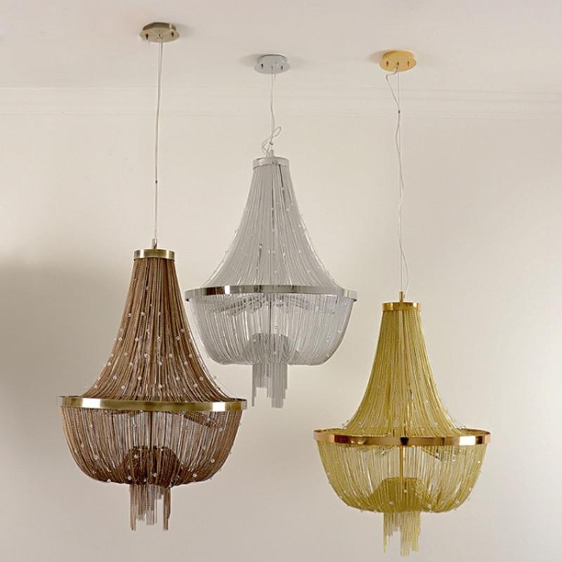 D55cm Moderne Kronleuchter Lampe Aluminium ATLANTIS Stream Kristall Designer Kronleuchter Beleuchtung Wohnzimmer Hotel Licht