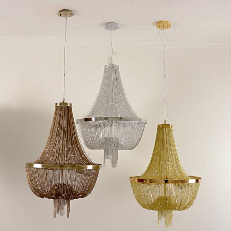 D55cm lámpara moderna lámpara de aluminio Atlantis cristal corriente diseñador Candelabros Iluminación Sala Hotel Luz