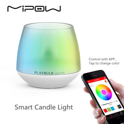 MIPOW PLAYBULB LED Remote Control Light Candles,Battery Powered Led Tea Lights,Tealights Fake Led Candle Light Easter Candle