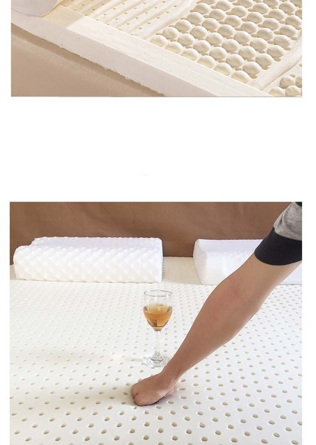 Vescovo średni miękki 85D łóżko topper rozmiar queen duży rozmiar masaż lateksowy materac nawierzchniowy do łóżka tanie i dobre opinie solid HANDMADE latex Jesień i zima latex mattress topper massage mattress pad health latex mattress