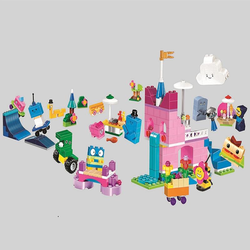 Big Movie 2 Cartoon Unikitty Cat Unikingdom Creative Castle Box Figures Building Block Kits Bricks Toys Compatible Friends 41455