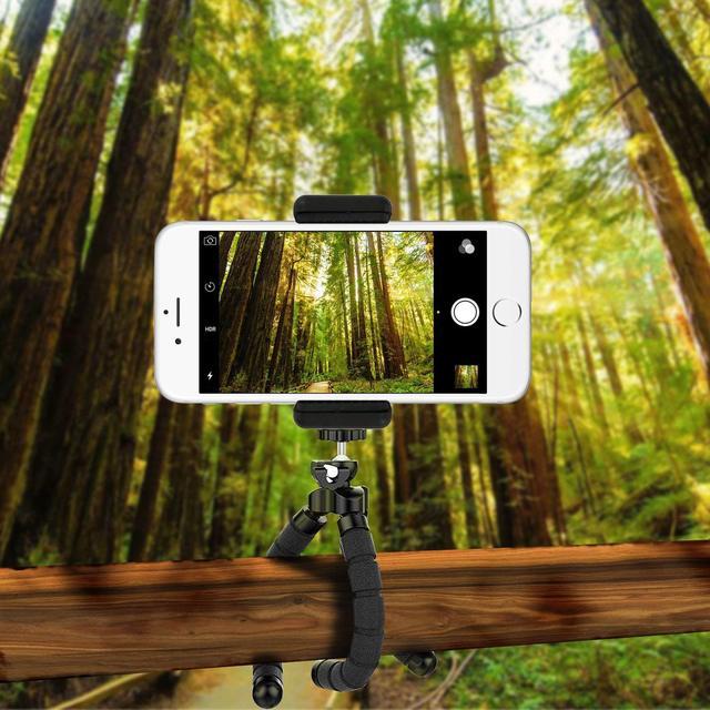 mini Portable Flexible Tripod and Phone Holder Bracket Stand Tripod Kit for iPhone 7 Xiaomi Samsung Cellphone DSLR Camera