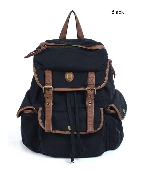 Aliexpress.com : Buy on sale Thick Washed Canvas Leather Backpack ...
