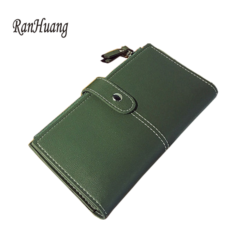 RanHuang 2017 Women Fashion Wallet Long Design PU Leather Wallet Women's Casual Purses Clutch Bags Leather Card Holder A743 casual weaving design card holder handbag hasp wallet for women