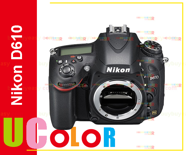 Nikon D610 DSLR Camera FX Format 24 3 MP 1080P Video 3 2 LCD Body Only
