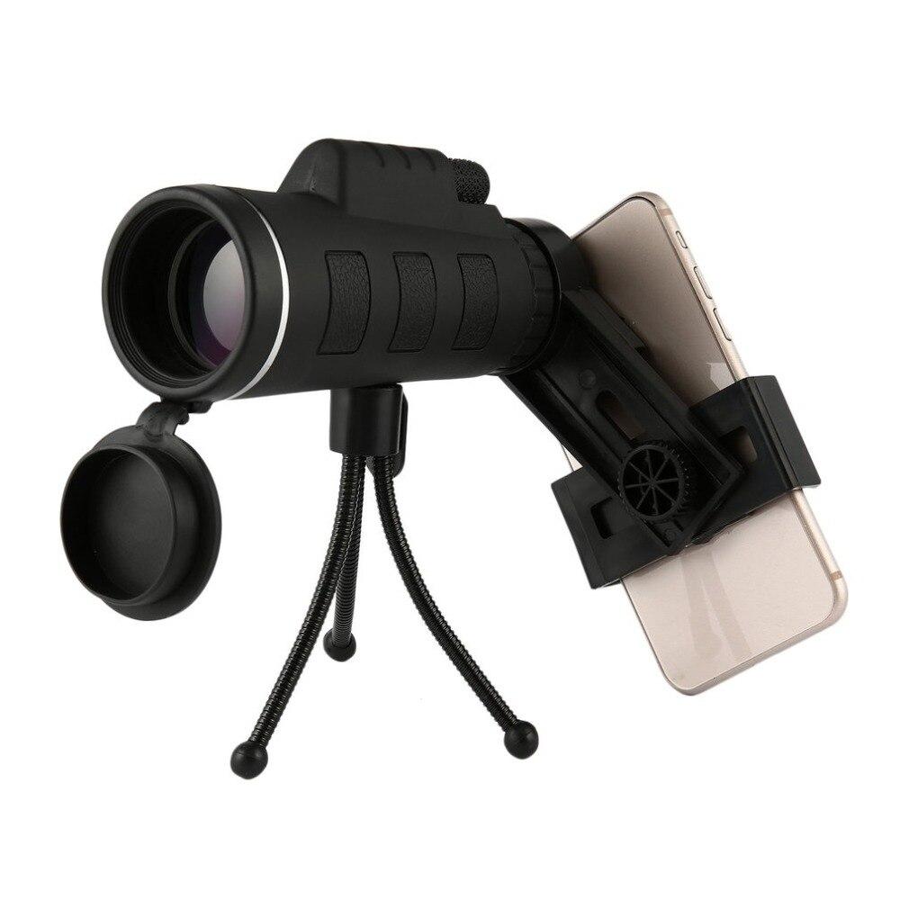 40X60 Monocular Teleskop Weitwinkel HD Nachtsicht Prisma Umfang Mit Kompass Telefon Clip Stativ Außen Tragbare Teleskop