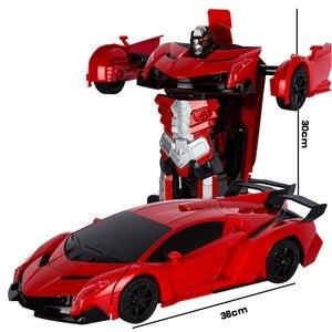 Image 4 - 2.4G Cảm Ứng Biến Dạng RC Xe Ô Tô Biến Hình Robot Đồ Chơi Xe Ô Tô Ánh Sáng Điện Robot Mô Hình Đồ Chơi Dành Cho Trẻ Em Quà Tặng