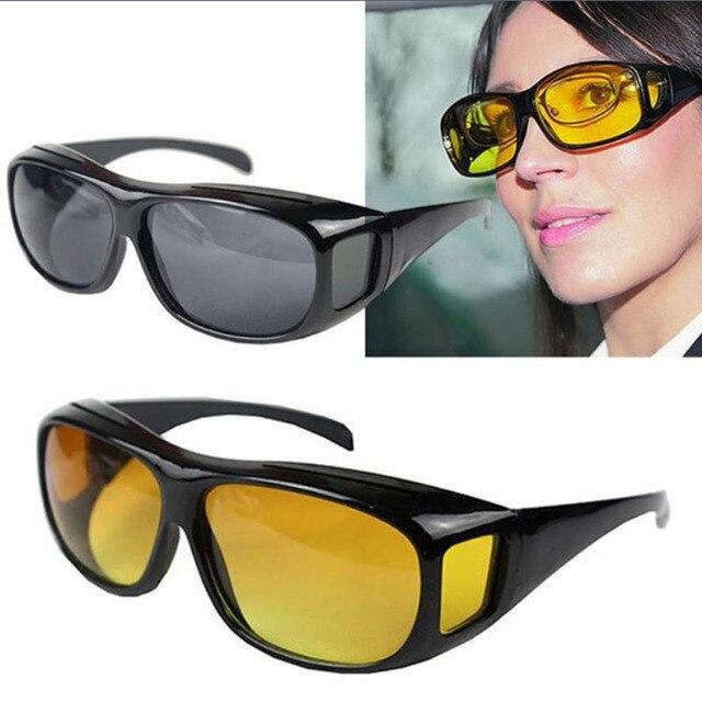 dbbe47268a83c Homens mulheres óptica óculos de visão noturna óculos de condução anti HD  óculos de proteção uv400