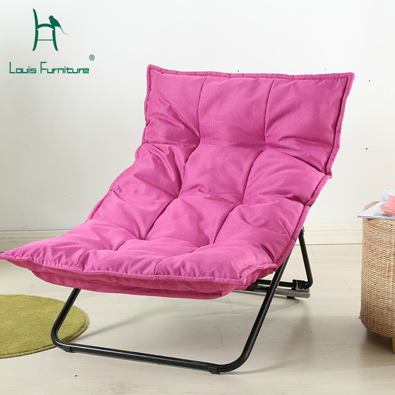 US $160.9 |Louis Fashion Chaise Lounge Living Room Modern Simple Lazy Sofa  Chair Folding Leisure Balcony-in Chaise Lounge from Furniture on AliExpress