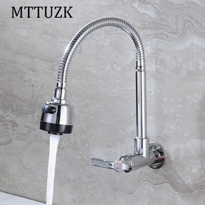Image 3 - Free Shipping!In wall mounted Copper kitchen faucet. fold expansion. DIY kitchen sink tap.Washing machine shower faucet 1pcs/lot