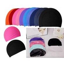 1 шт., одноцветные спортивные ультратонкие шапочки для купания, защищающие уши, Длинные приспособления для плавания