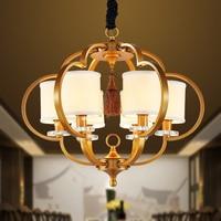 Новый китайский Открытый Подвесные Светильники современной гостиной особенности Утюг спальня китайский ресторан вилла простой фонарь