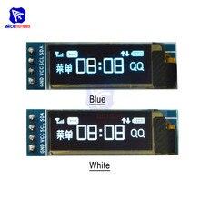 """0,9"""" 128*32 • Максимальное количество светодиодный Дисплей модуль 4-контактный светодиодный модуль для Arduino Raspberry PI 3,3-5 V IIC I2C серийный O светодиодный Дисплей модуль SSD1306"""