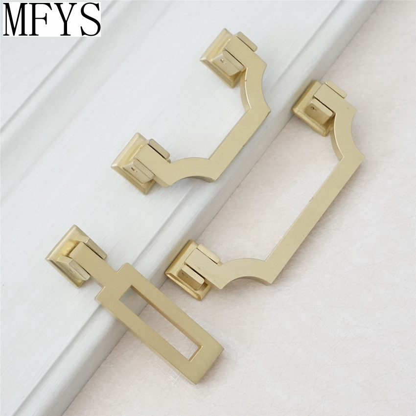 2.5'' 3.75'' Brushed Gold Brass Dresser Pulls Drawer Knobs Handles Pulls Drop Kitchen Cabinet Door Handle Pull Hardware 64 96 mm 2 5 3 75 vintage style dresser pulls drawer handles knobs gold bronze red cabinet door pull handle furniture hardware 64 96mm
