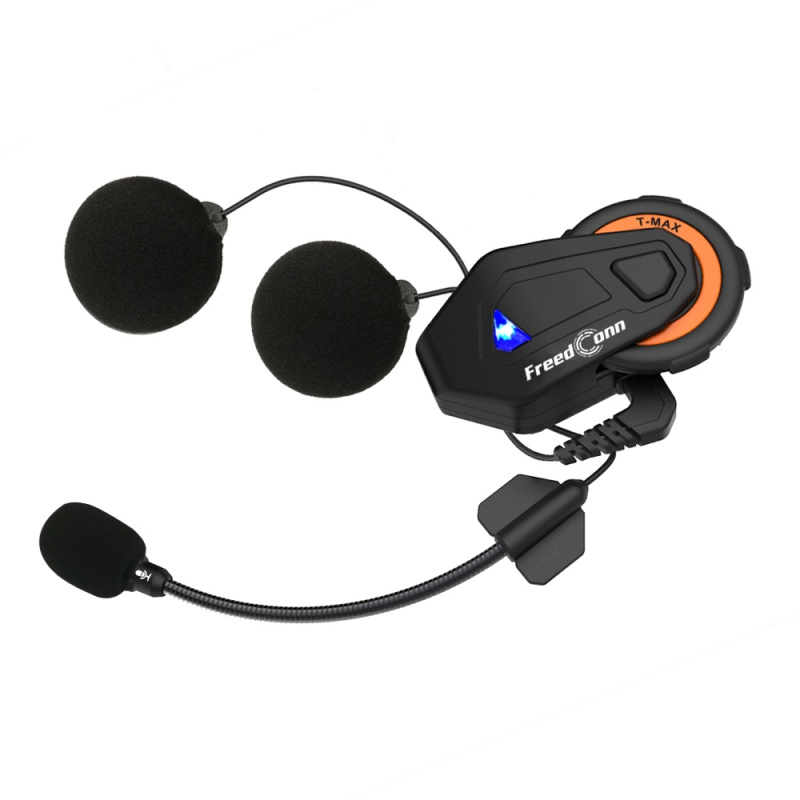T-max Motorcycle Intercom Helmet Bluetooth Headset 6 Riders Group Talking FM Radio Bluetooth 4.1 + Soft Earpiece