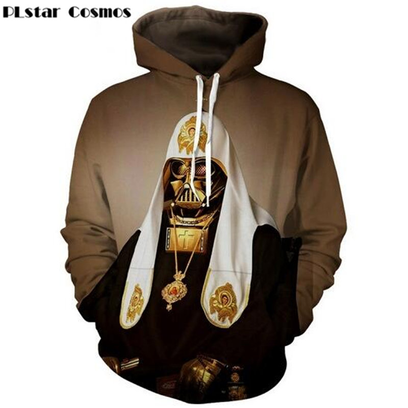 PLstar Cosmos Fashion Pope Vader Hoodies printing 3d Sweatshirts Women Men Tracksuits si ...