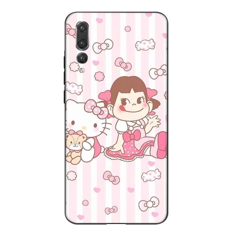 Силиконовый чехол для мобильного телефона huawei Y5 Y6 Y7 Y9 Prime mate 10 20 Pro Nova 2i 3i 2 3 4 Lite Cover Peko Milky Girl