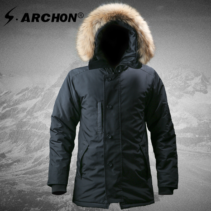 N-3B US Winter Warm Tactical Jacket Men Thermal Portable Down Cotton Padded Coat US Army Military Hiking Parkas Jackets