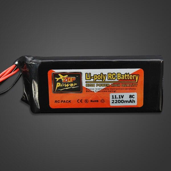 1pcs High Quality ZOP Power 11.1V 2200MAH 8C Lipo Battery For FUTABA - Mainan kawalan radio - Foto 6
