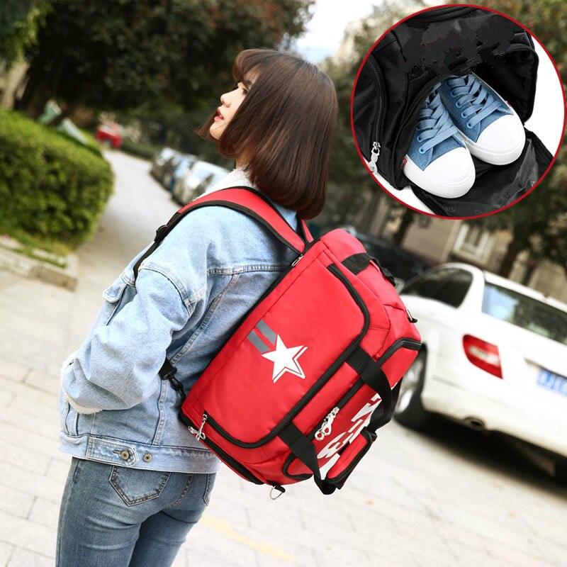 Men Sport Gym Bag Women Fitness Travel Handbag Outdoor Backpack Separate Space For Shoes Waterproof Rucksack Trainning Bags