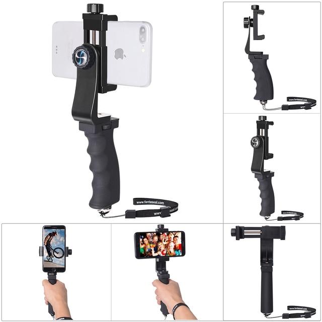 MINI สมาร์ทโฟน Hand Grip ผู้ถือโทรศัพท์มือถือ Stabilizer คลิป Selfie Stick CLAMP Adapter สำหรับ iPhone 11 XS MAX XR Samsung s10