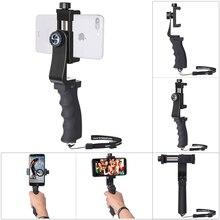 ミニスマートフォンハンドグリップホルダー携帯電話スタビライザークリップ Selfie スティッククランプアダプタ iphone 11 XS 最大 XR サムスン s10