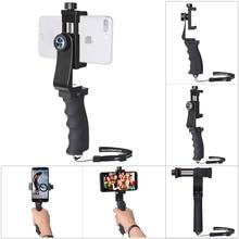 מיני Smartphone יד גריפ מחזיק נייד טלפון מייצב קליפ Selfie מקל מהדק מתאם עבור iPhone 11 XS MAX XR סמסונג s10