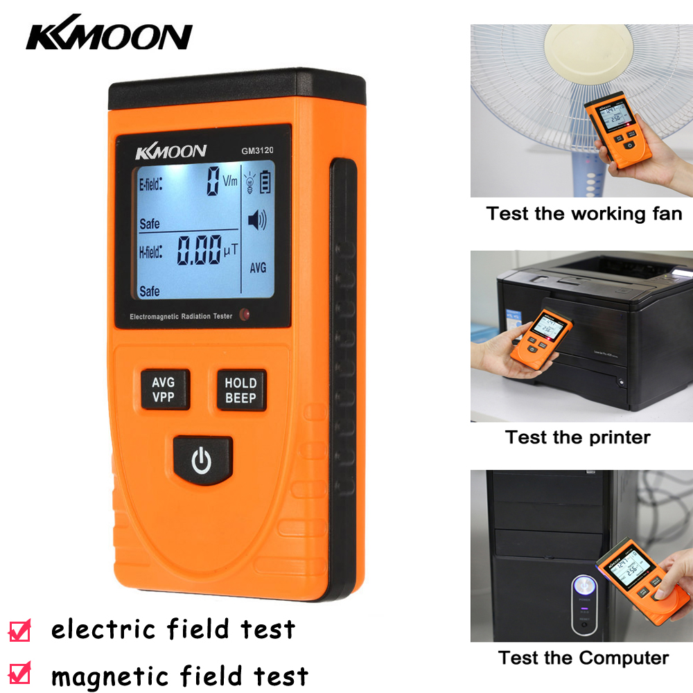 KKmoon Digital LCD Electromagnetic Radiation Detector Portable EMF Meter Dosimeter Tool Geiger Cunter For Computer Phone