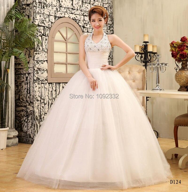 Lace Halter Wedding Gown: Z Stock 2016 New Plus Size Women Bridal Gown Wedding Dress