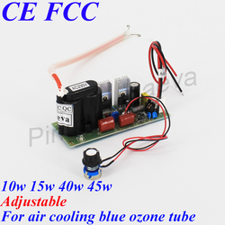 Pinuslongaeva Ozone PSU for Blue air cooling ozone tube 10w 15w 40w 45w Adjustable High-voltage power supply