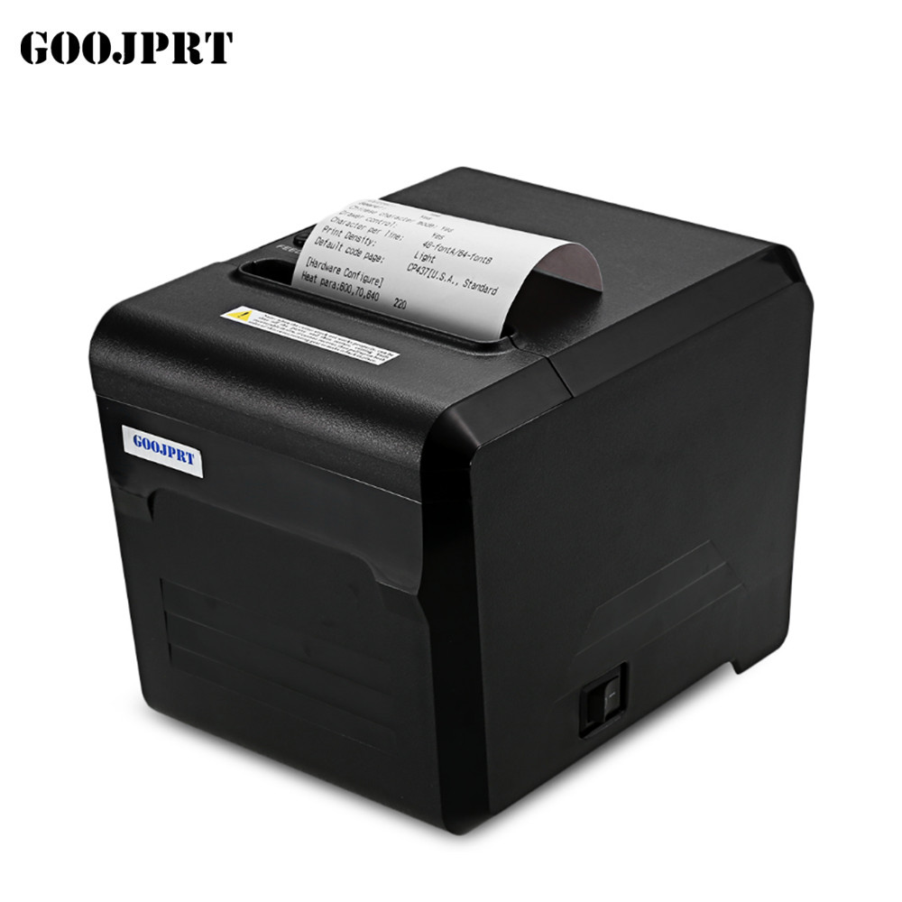 Free Shipping 80mm thermal printer 80mm kitchen printer USB port POS 80mm thermal receipt printer USB+Serial/LAN/Bluetooth 2017 new arrived usb port thermal label printer thermal shipping address printer pos printer can print paper 40 120mm