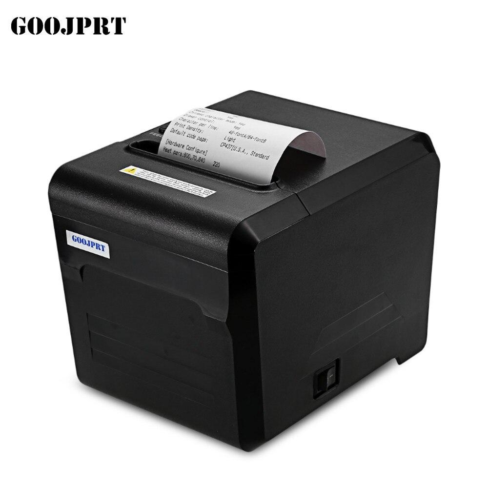 Livraison Gratuite 80mm thermique imprimante 80mm cuisine imprimante USB port POS 80mm thermique réception imprimante USB + série/LAN/Bluetooth